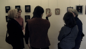 picture of an art show reception