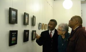 visitors at an art reception